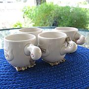Ducks Mug Set 4 Fitz Floyd Animal Quackers