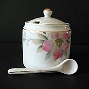 SALE Azalea Mustard Jar with Spoon Noritake Vintage