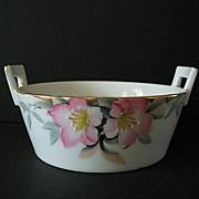 SALE Azalea Pattern Butter Tub with Drain Insert