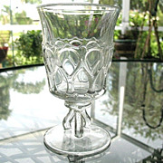 Westmoreland Glass Goblet  Oval Thumbprints