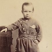 SOLD CDV-Young Allan In Garibaldi Pants With Big Buttons