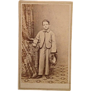 Carte De Visite: CWE Serious Boy With Sack Jacket And Hat