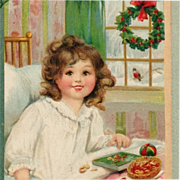 SALE Signed Brundage- Christmas Morning Treats For Little Beauty