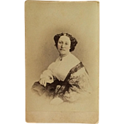 CDV- CWE Lovely Woman With Large Cameo And Beads