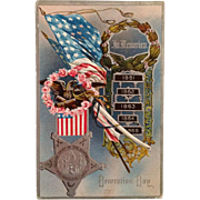 SOLD Embossed Postcard GAR Decoration Day Remembrance Of Civil War Veterans - Red Tag Sale Ite