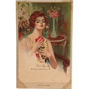"""Artist Signed Postcard- """"For You, A Rose"""" By Frederick Duncan"""