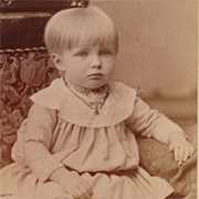 SOLD Carte De Visite- Fair Haired Child With Button Shoes And Little Locket