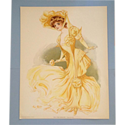 Maud Stumm - New York Show Girl- Lithograph