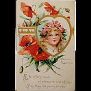Tuck's  Little Beauty And Lush Orange Poppies-Brundage