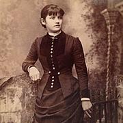 SOLD Carte De Visite- Victorian Era St. Louis Belle In Fashionable Draped Dress With Pleats -