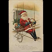 Santa In His New Airship