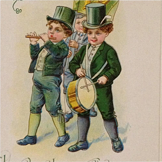 St. Patrick's Day Parade Postcard