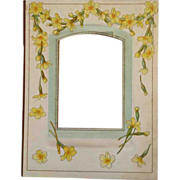 SOLD Victorian Album Cabinet Card Holder With Yellow Flowers