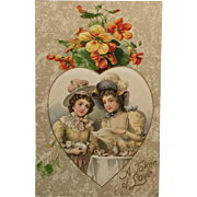 Tea Party For Best Friends Valentine Postcard