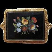 Eighteen karat yellow gold and Roman Micro Mosaic brooch, 19th century