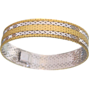 Classic polished  Gilt Silver bracelet, ca. 1950