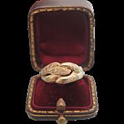 Diamond and fourteen karat yellow gold ring, ca. 1960