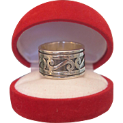 Sterling silver band with Niello, ca. 1960