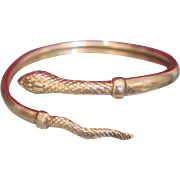Art Nouveau snake bracelet, silver 925, ca. 1900