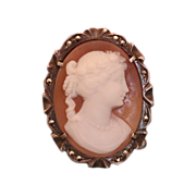 Oval Shell Cameo brooch/pendant set in a silver 800 and Marcasite mounting,19th century