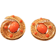 American Vintage costume earrings signed Trifari, mid 20th century