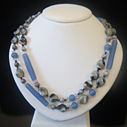 Bohemian Art Glass Bead necklace dated at about 1940