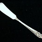 Vintage Silverplate Butter Knife PINK ROSE No. 5542