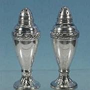 Vintage Silverplate LURALINE Salt & Pepper Shakers Lazer Luria & Sons