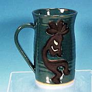 Vintage KOKOPELI Hand-made Pottery Beer Mug Tankard
