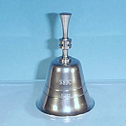 SOLD Vintage Collectible Silverplate Dinner Bell Engraved