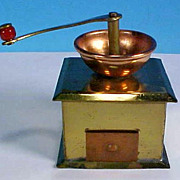 SALE Vintage COPPER & BRASS Coffee Grinder Dollhouse Doll House Miniature