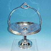 Antique Quadruple Silverplate Bride's / Cake Basket Wilcox Silverplate Company #1633
