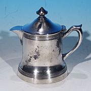 Antique Quadruple Silverplate Creamer Syrup Pitcher Hot Milk Jug Pot W. R. (William A. Rogers)