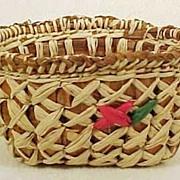 Vintage MAKAH INDIAN Basket Miniature