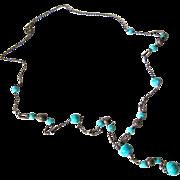SALE Art Deco Dragon's Egg/Peking Glass Flapper Necklace