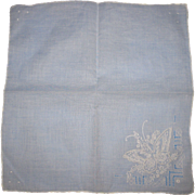 Embroidered Butterfly Hanky