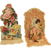 Pair of Victorian Pop-up Valentines