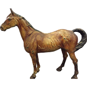 SOLD 1920's HUBLEY Cast Iron RACE HORSE Large EQUESTRIAN Statue DOORSTOP / Door Stop