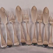 Victorian Fish Knife & Fork Set  epns