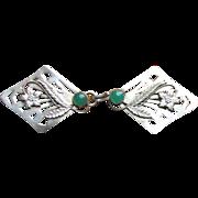 SOLD Vintage Silvertone Floral Repousse Openwork Belt Buckle - Red Tag Sale Item