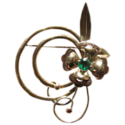 Vintage 1940's Harry Iskin Rhinestone Flower Brooch