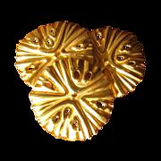 Vintage 1980's Goldtone Sand Dollar Brooch