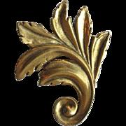 Vintage 1995 Metropolitan Museum of Art Ancanthus Leaf Brooch