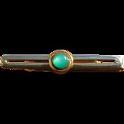Vintage Swank Green Moonglow Tie Clip