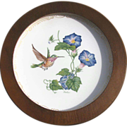 Vintage Edward Boehm Limited Edition Porcelain Hummingbird Plate