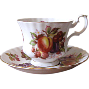 Vintage Royal Albert Bone China Teacup & Saucer Set - Orchard Fruit