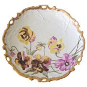 Antique Limoges Pansy Plate