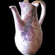 SALE Vintage Lavender & Gold Splatter Teapot with Luster Glaze