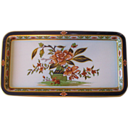 Vintage Daher Floral Painted Metal Serving Tray