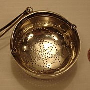 Silver Tea Strainer   Spout-mounted type   ca. 1852
